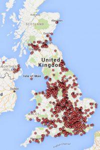 Map UK Photonics Companies